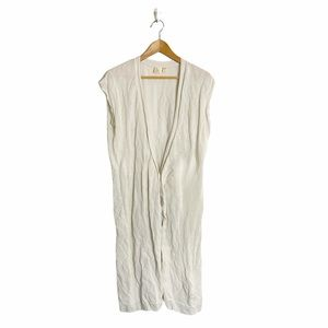 The Fisher Project long sleeveless ivory cardigan